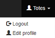 GO TO EDIT PROFILE IN THE HEADER
