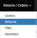 GO TO RETURNS IN THE HEADER