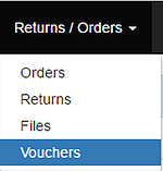 GO TO VOUCHERS IN THE HEADER